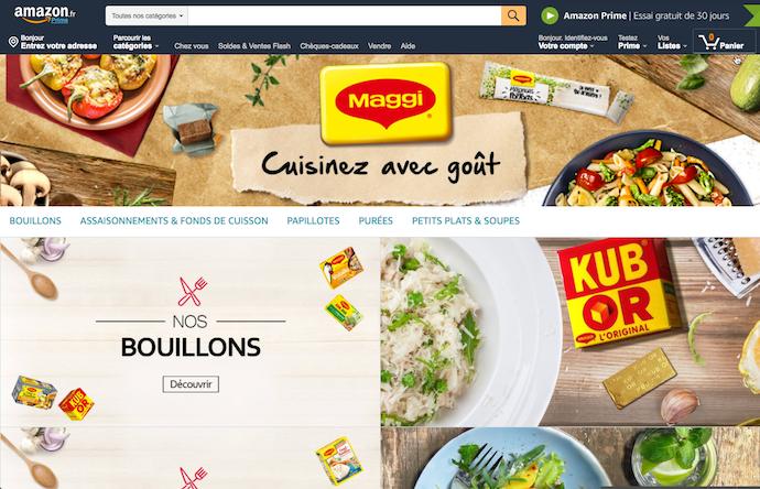 Amazon brand store exemple