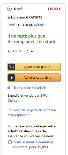 exemple buybox boite achat amazon